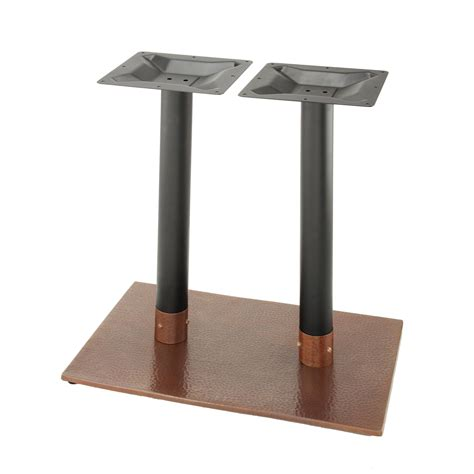 hammered metal table l penny 1828 hammered copper table base penny series
