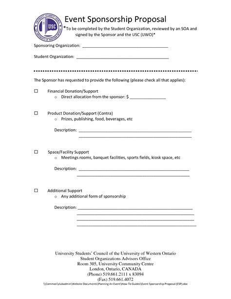 event sponsorship letter template sponsorship letter samples