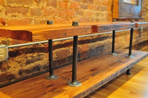 industrial pipe console table pipe media console media console table made from