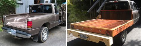 wood truck bed plans woodwork building a wood flatbed for pickup truck pdf plans