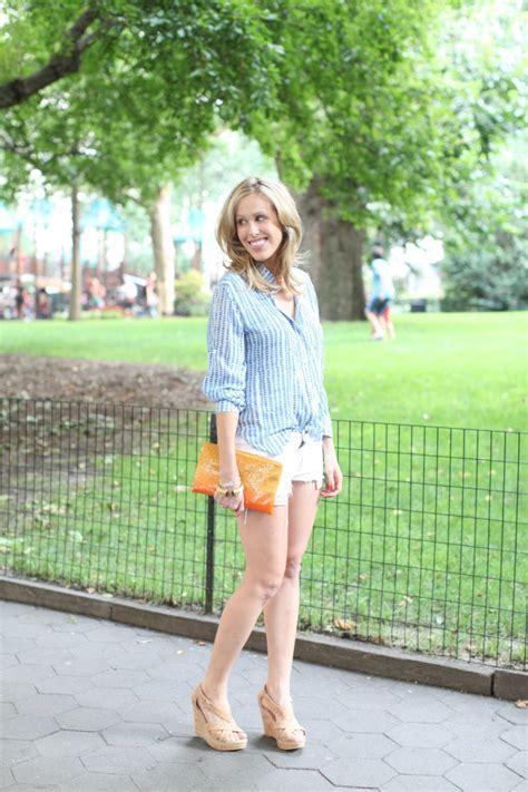 Denim Shorts for Summer Nights   Fashionable Hostess