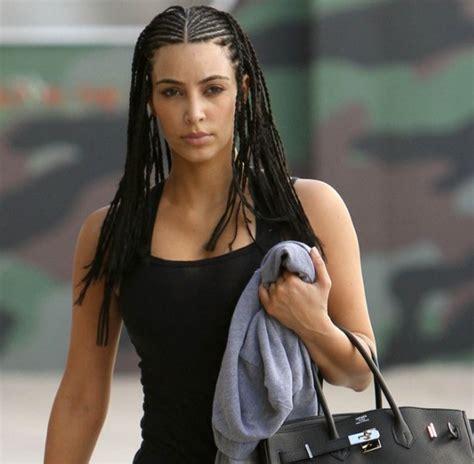 braided hairstyles kim kardashian kim kardashian hair braids vissa studios