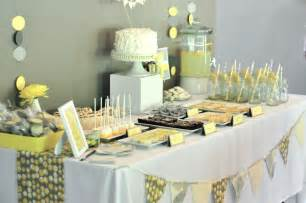 gray and yellow baby shower project nursery