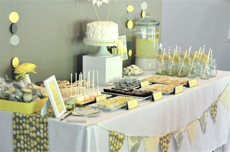 Yellow Themed Baby Shower baby shower food ideas baby shower ideas yellow and gray