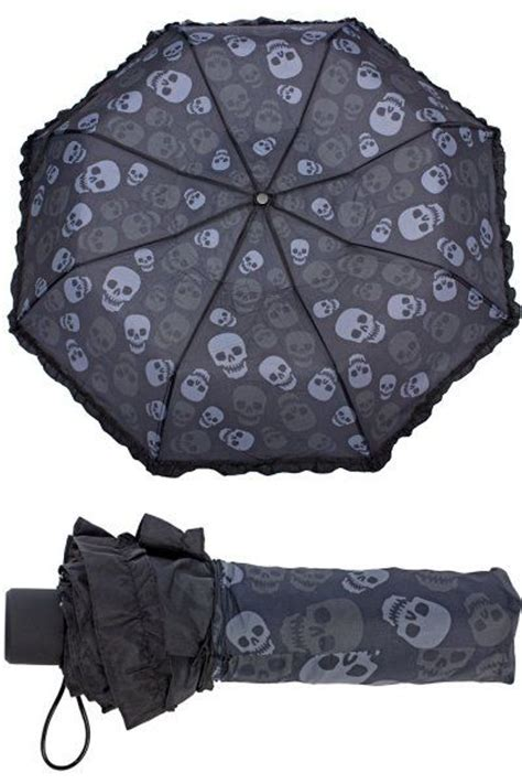skull pattern umbrella skulls compact umbrella by sourpuss gothic gifts
