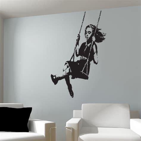 Banksy On Swing banksy on swing wall sticker
