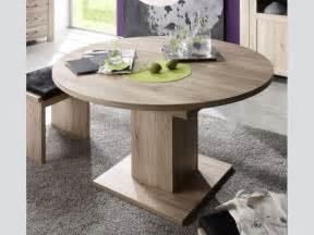 Dining Room Sets With Bench ausziehtisch esszimmertisch rund 104 cm eiche s 228 gerau