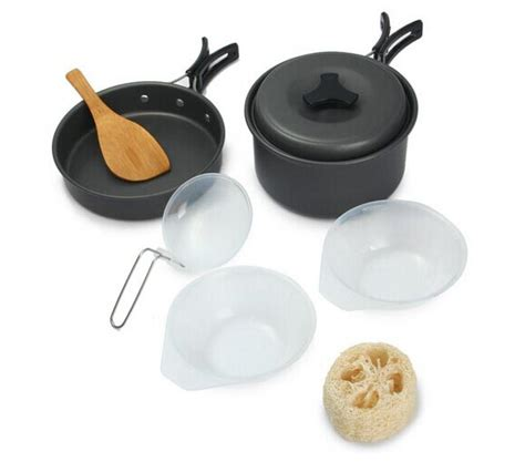 Panci Nasi panci masak set outdoor 8pcs black jakartanotebook