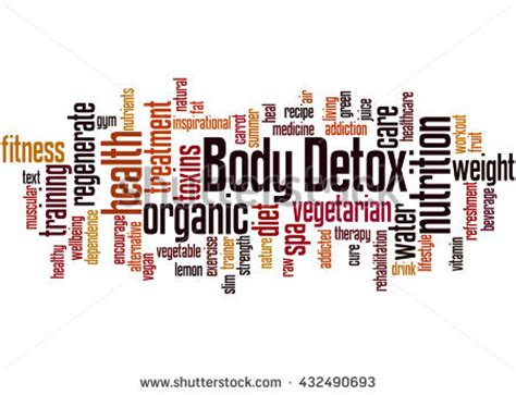 Words Associated With Detox by Decision Word Cloud Concept On Stock Illustration