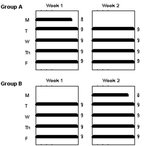compressed work week template alternative work schedules