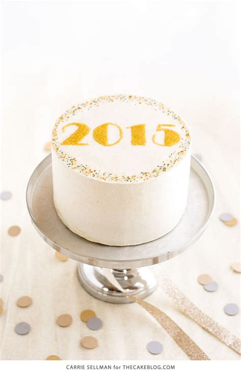 the cake new year sprinkle new years cake