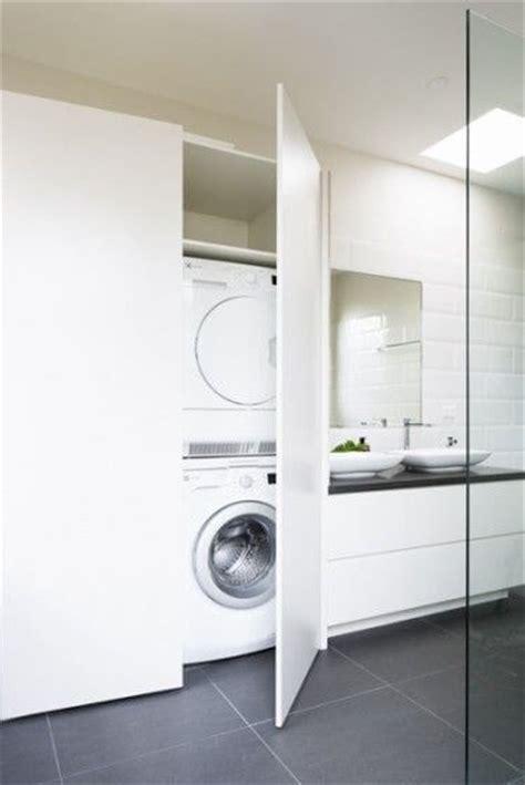 combined laundry  bathroom