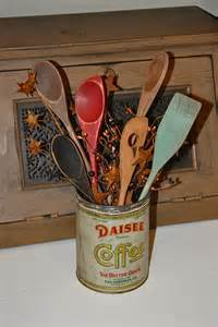 primitive craft projects dollar store spoons turned primitive kitchen decor