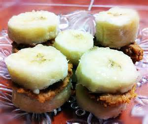 healthy dessert ideas banana and peanut butter bites