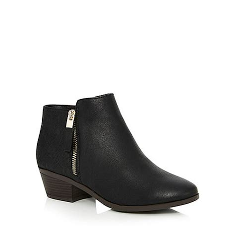 call it boots for call it black gunson mid block heel ankle boots