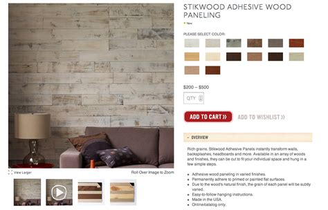 Peel And Stick Wainscoting by My Notting Hill Stikwood Peel Stick Real Wood Paneling