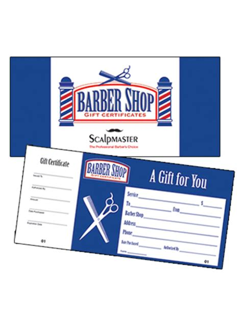 Barber Shop Gift Certificate Template Scalpmaster Barber Shop Gift Certificate 50 Count Barber Depot