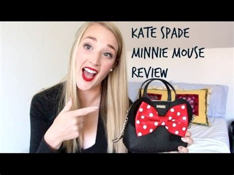 kate spade minnie mouse review whats   bag youtube
