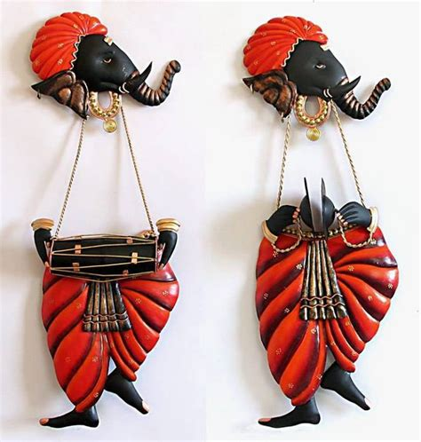 online purchase home decor items buy set of 2 ganesha wall hanging online