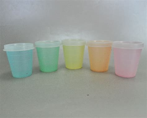 Tupperware Rainbow Set vintage tupperware rainbow pastel containers set of