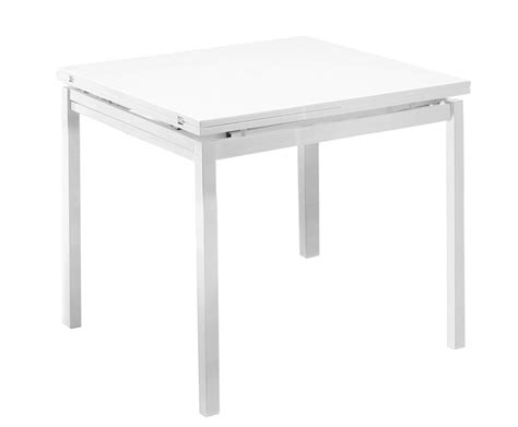 White Folding Dining Table Bordeaux White High Gloss Folding Table Only