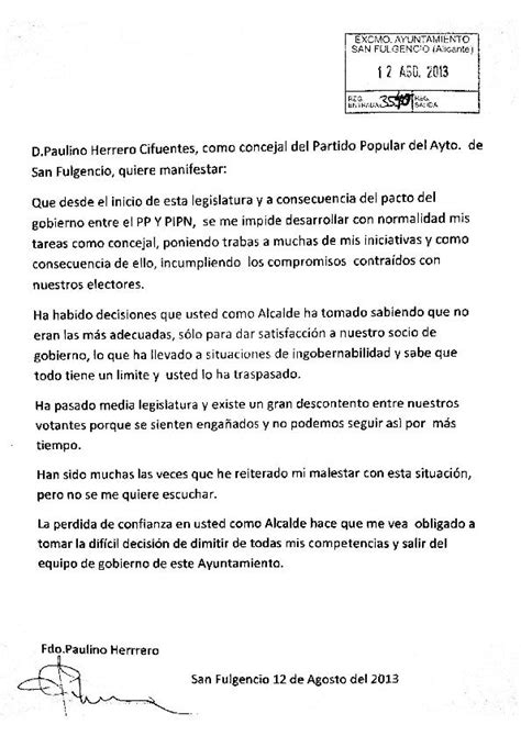 Resignation Letter Arts And Humanities Council Councillors Resignation Letter La Marina Info