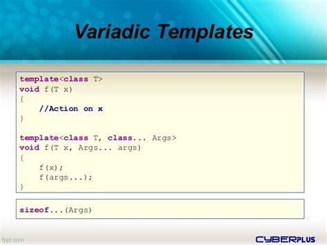 variadic templates c 11 c 14