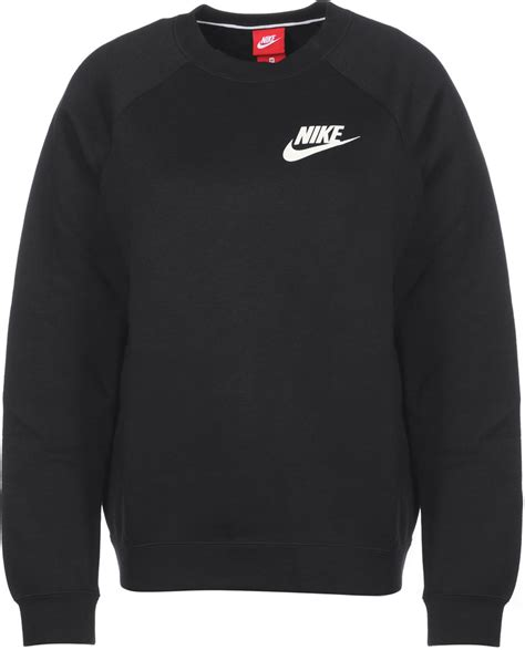 Nike Sweater Ks nike rally crew w sweater schwarz im weare shop