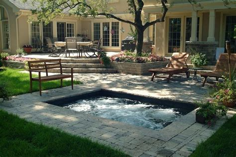 small backyard plunge pool raised patio backyards and mental problems on pinterest