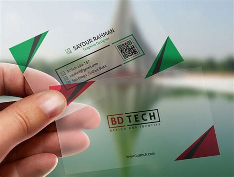 free translucent plastic business card psd template titanui