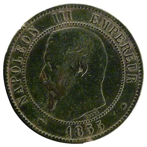 20430 second empire 10 centimes napol 233 on iii tb 10