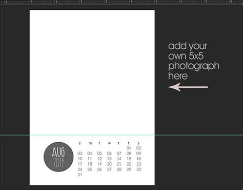 5x7 Calendar Template Free