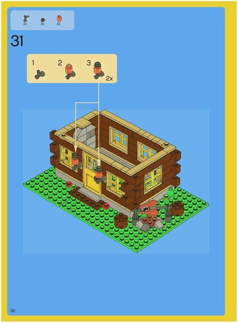 lego log cabin 5766 creator