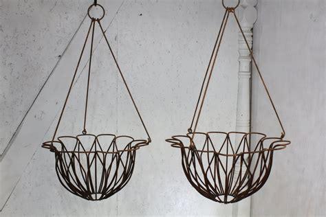 decorative garden hanging baskets wrought iron tulip hanging baskets in 2 sizes flower