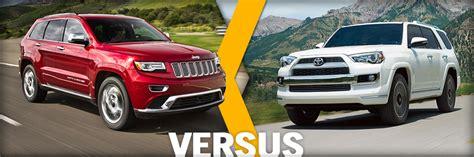 Compare Jeep Grand Models 2014 Grand Vs Toyota 4runner Vehicle Comparison