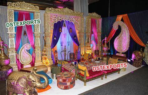 Asian Wedding Mehandi Stage Decoration   Moroccan Theme