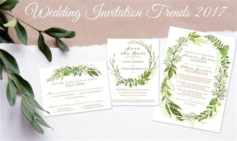 Wedding Invitation 2017 simplicity 2017 wedding invitation trends