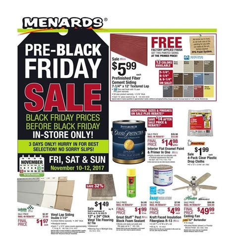 black friday fan deals menards pre black friday ad deals sales