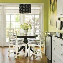 green wall paint cottage dining room valspar - Black White And Green Kitchen