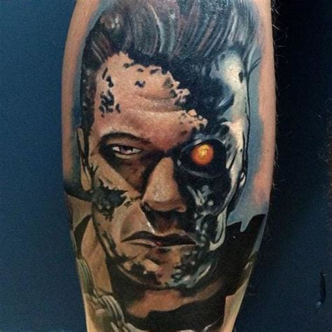 terminator tattoo 15 brilliant terminator tattoos tattoodo