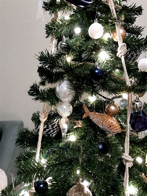 christmas tree without ornaments coastal christmas tree nautical themed christmas decor