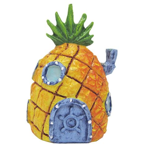 pineapple house penn plax spongebob squarepants mini pineapple house aquatic ornament petco