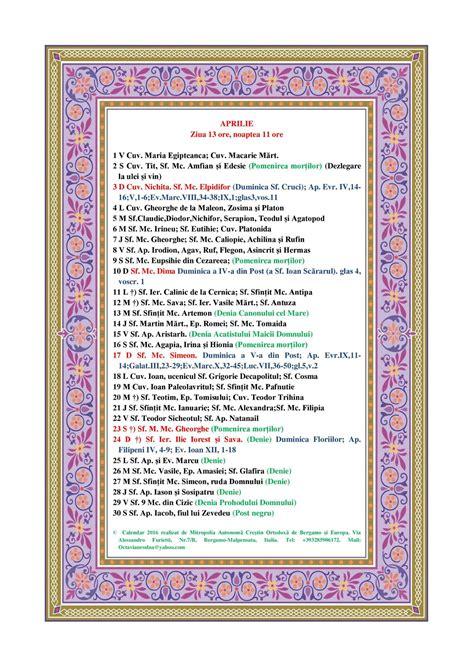 Calendar Ortodox 2018 Nunti Calendar Ortodox Pe Stil Vechi 2015 Search Results