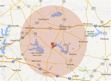 map of sulphur springs texas pest service area including greenville sulphur springs texas