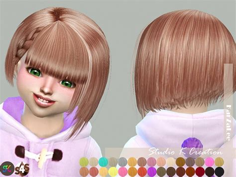 hairstyles studio games animate hair 68 chika toddler at studio k creation 187 sims