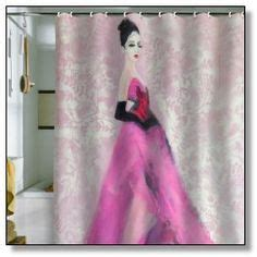 shocking pink curtains pink shower curtains on pinterest