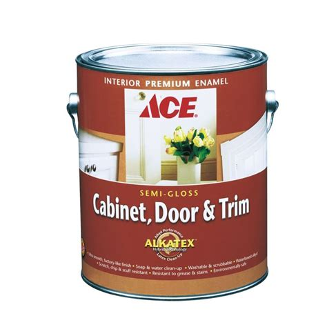 ace cabinet door trim semi gloss alkyd enamel paint the knownledge
