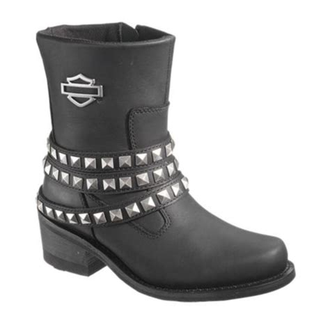 womens harley riding boots harley davidson kellyn womens black leather ankle riding