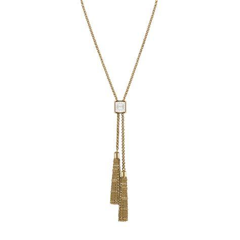 Opulent Wealth Kensington Clear Swarovski Crystal Gold Tone Stainless