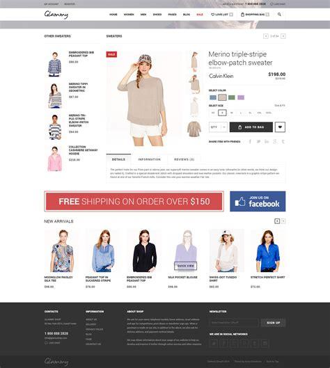 glammy ecommerce html premium template by annabalashova